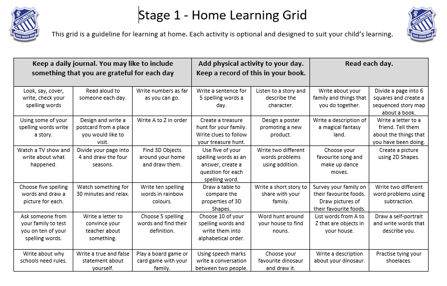Learning At Home Grid